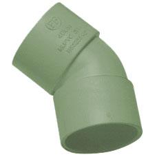 50mm Solvent Weld Waste 45' Obtuse Bend - Olive Grey