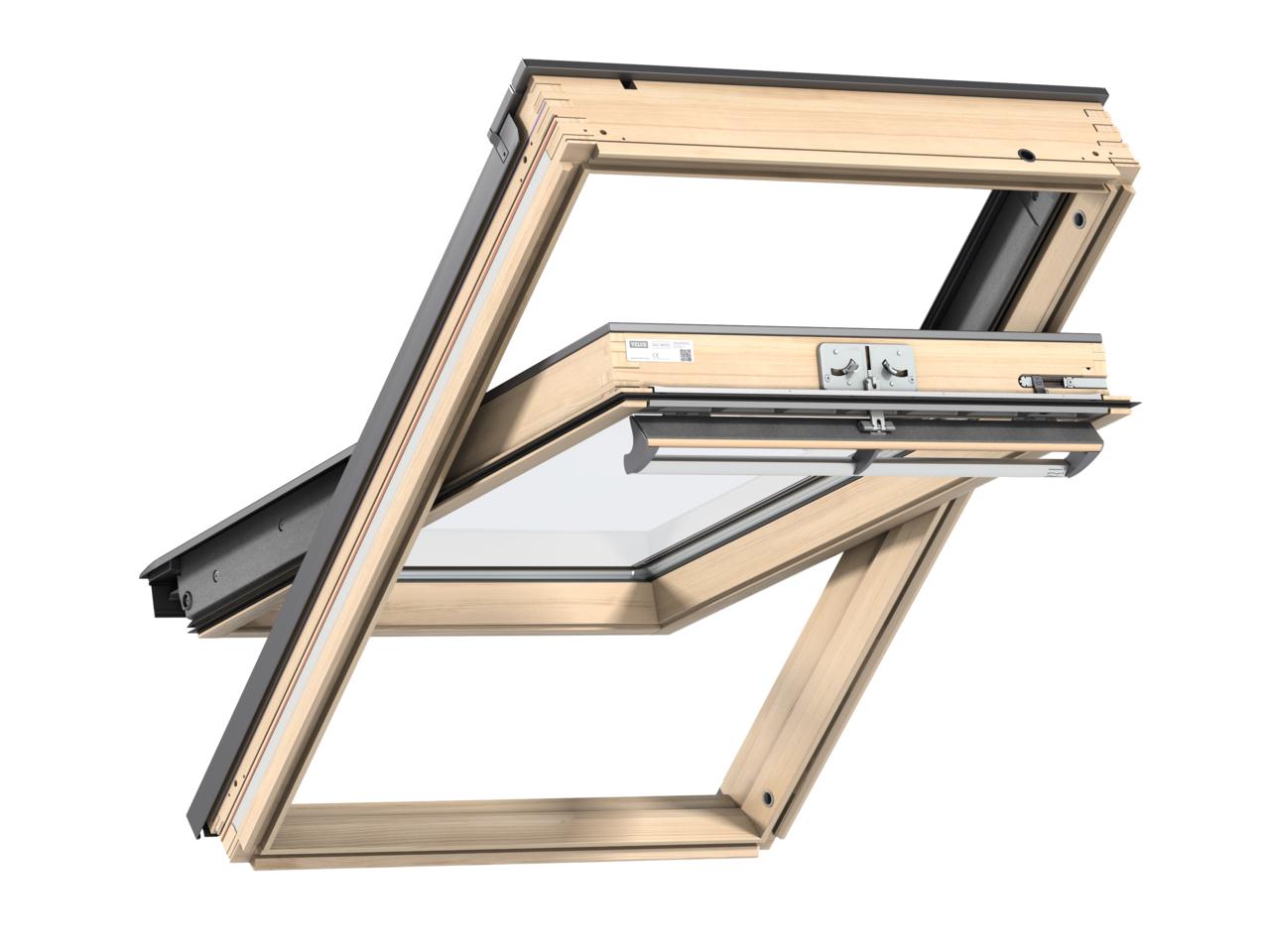 Velux GGL CK06 550 x 1180mm Centre Pivot Standard 70Pane Roof Window - Pine
