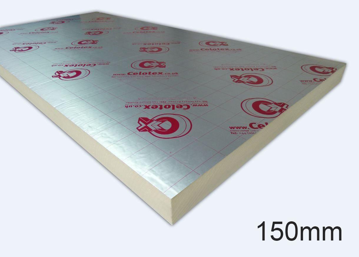 150mm XR4150 PIR Insulation Board 1200 x 2400mm