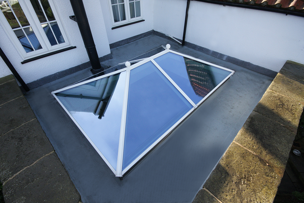 2000 x 1000mm Aluminium Korniche Roof Lantern (inc. Ambi Self-Cleaning Glazing) - Black, White or Anthracite
