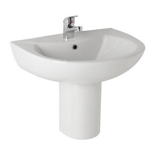 K-Vit G4K 545mm Basin 1TH & Semi Pedestal