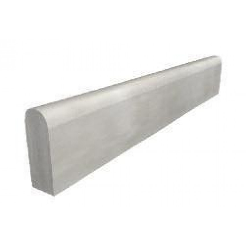 Vibrated Wet Cast Round Top Concrete Path Edging - 50 x 150 x 900mm