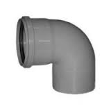 110mm Push Fit 90' Single Socket Bend - White