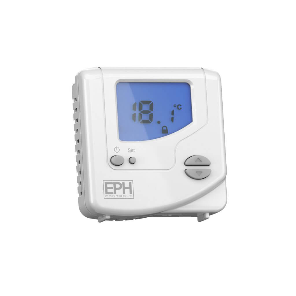 EPH Mains Wired Digital Room Thermostat (230Vac, On/Off and TPI control)