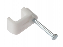 2.5mm Flat Nail-in Cable Clips (Box of 100)