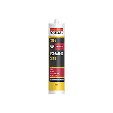Soudal Trade 300ml Decorators Caulk - White