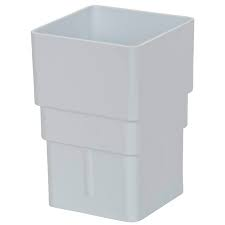 65mm Square Downpipe Socket Downpipe Socket (Union) - White