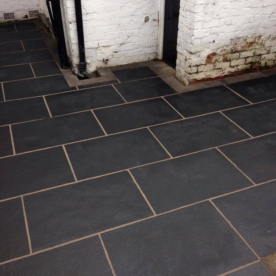 Talasey Classicstone (24mm Calibrated) Natural Limestone - Carbon Black - 600x600 Slabs