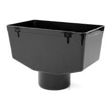 68mm/65mm Universal Rainwater Hopper - Black