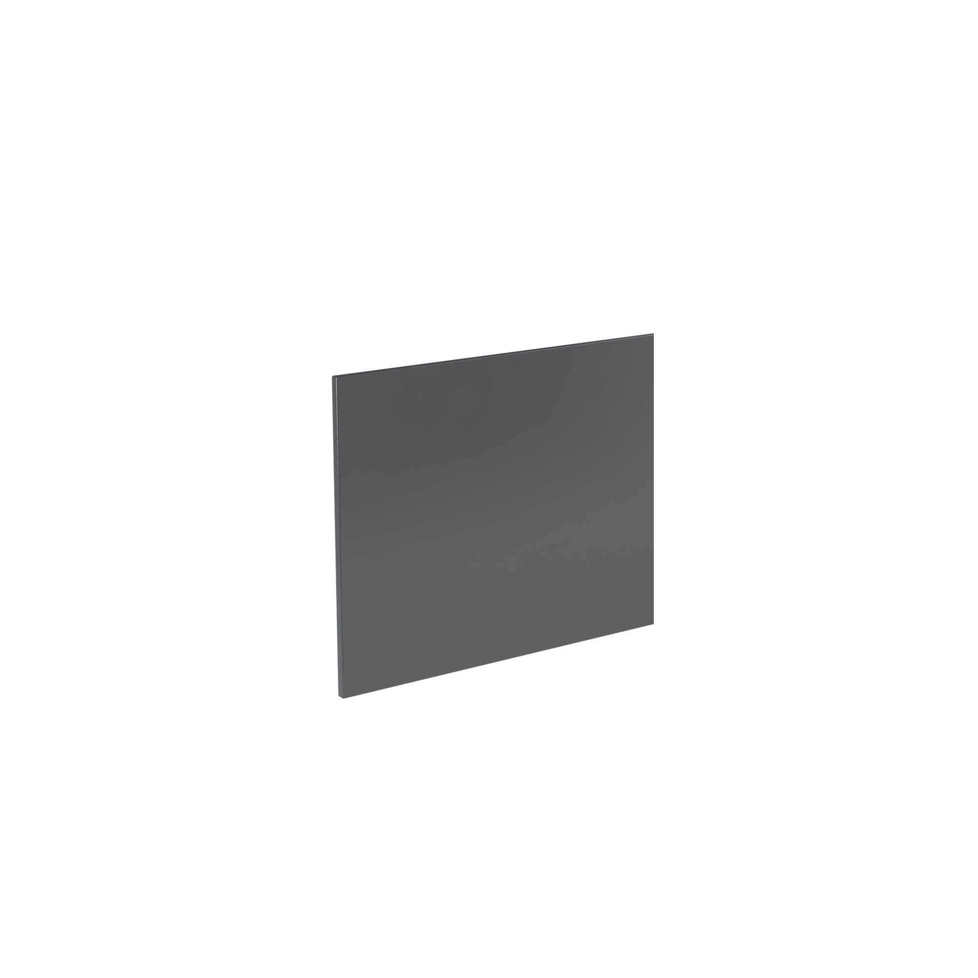 K-Vit Ikon 800mm Bath Panel - Gloss Grey