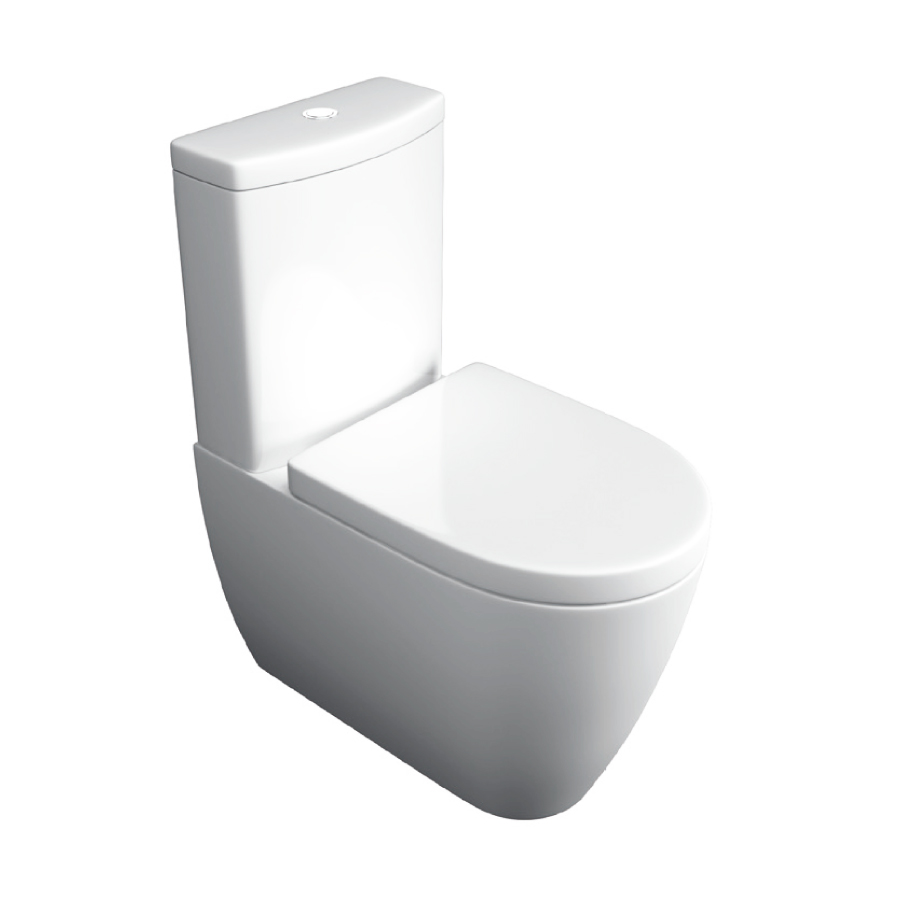 K-Vit Genoa Close-To-Wall Close Coupled WC Pan & Cistern (Seat Not Included)
