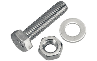 M10 x 70mm Hex Nut/Bolt/Washer Set (Pk of 2)