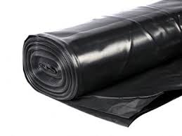 4m x 300mu (1200 Gauge) Black Polythene DPM 25m Roll (BBA Approved)