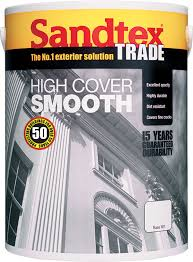 Sandtex Trade - High Cover Smooth - Magnolia - 5L