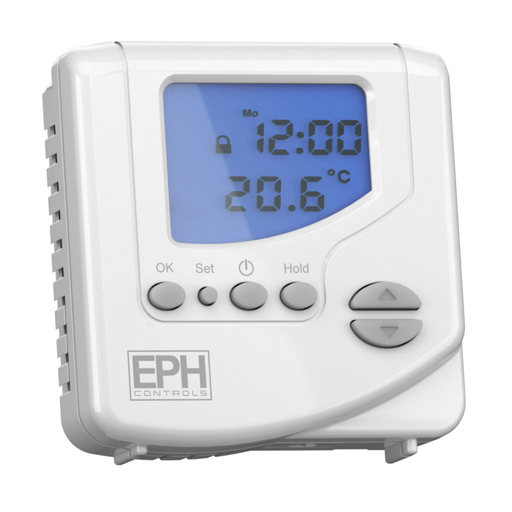 EPH Mains Wired Programmable Digital Room Thermostat (230Vac, On/Off and TPI control)