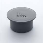 40mm Push Fit Waste Socket Plug / Stop End - Grey