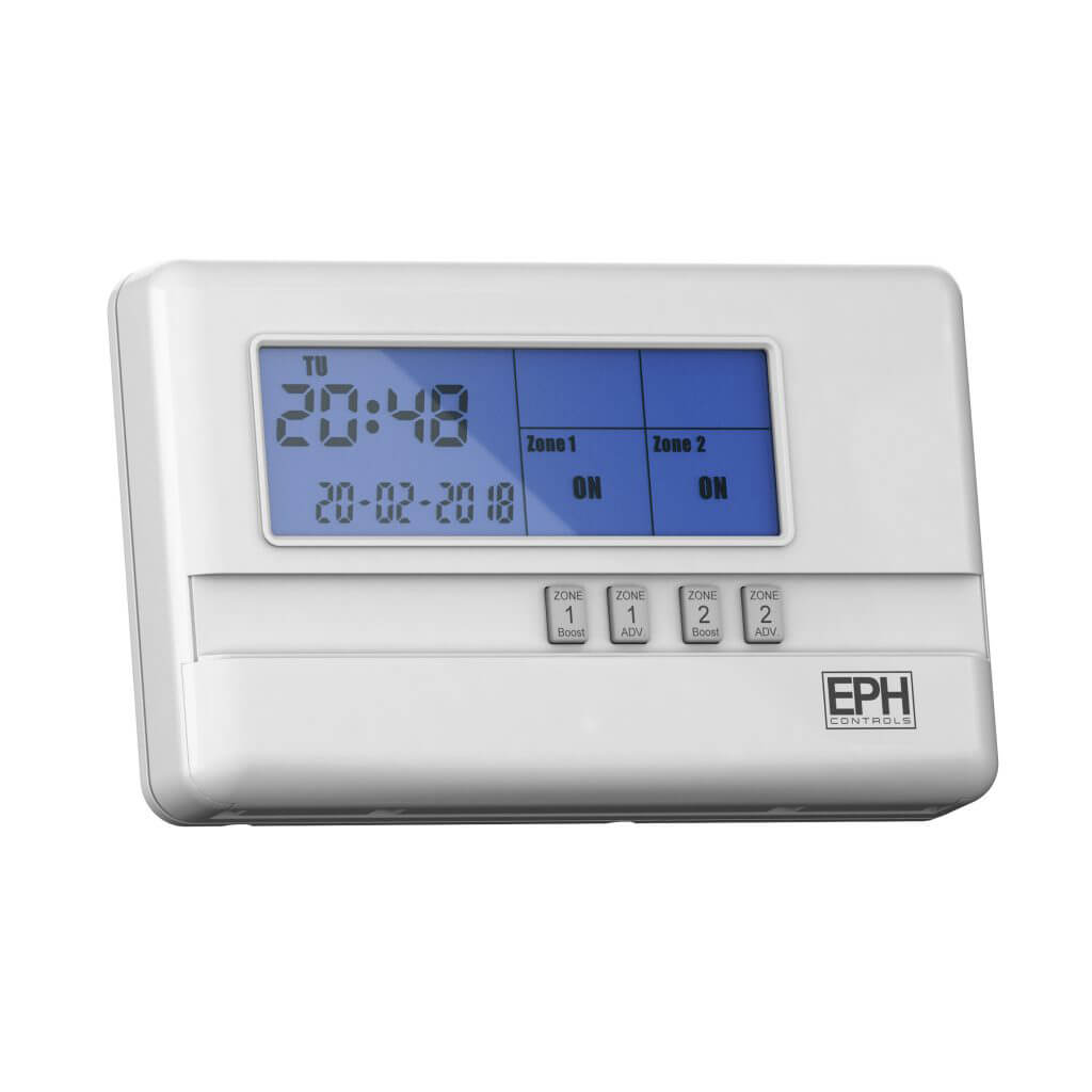 EPH 2 Zone Programmer, 7 Day, 5 / 2 Day or 24 Hour (c/w 230V contacts, Frost Protection)