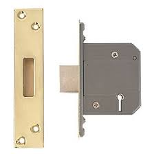Eclipse 63mm 5 Lever BS Deadlock - Polished Brass