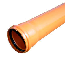 160mm Underground 3 metre Single Socket Pipe