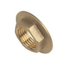 "Brass Flanged Backnut 1/2"""