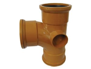 110mm Underground 90' tee Triple Socket Junction