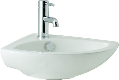 K-Vit G4K 410mm Corner Basin 1TH