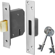 Eclipse 76mm 5 Lever BS Deadlock - Nickel Plated (BS3621)