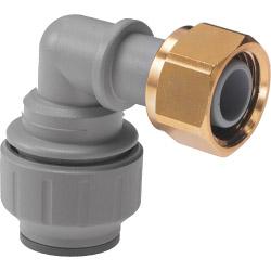"Polyplumb 15mm x 1/2"" Bent Tap Connector"