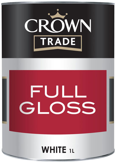Crown Trade - Full Gloss - Brilliant White - 1L