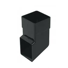 65mm Square Downpipe Standard Shoe - Black