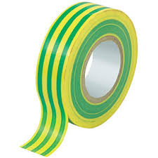 PVC Insulating Tape: Green/Yellow (25m)