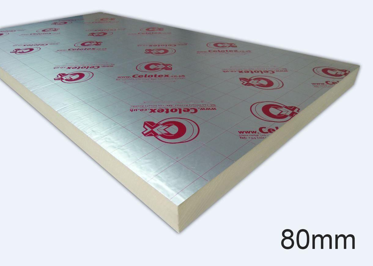 80mm GA4080 PIR Insulation Board 1200 x 2400mm
