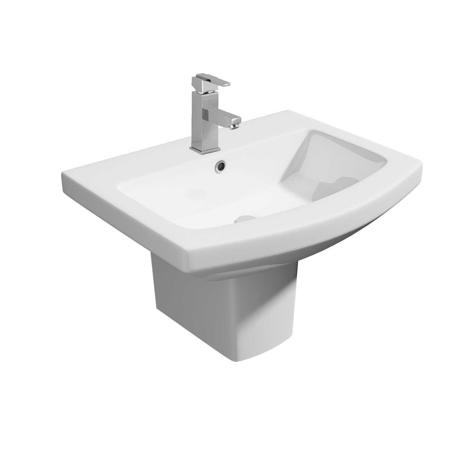 K-Vit Trim 550mm 1TH Basin & Semi-Pedestal