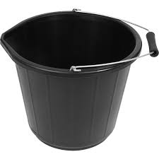 Builders Black Plastic Bucket