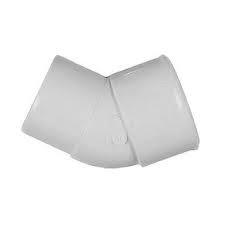 50mm Solvent Weld Waste 45' Spigot Bend - White