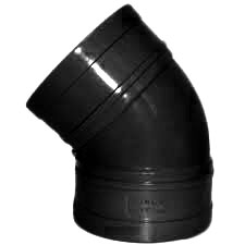 110mm Solvent Weld 135' Double Socket Bend - Black