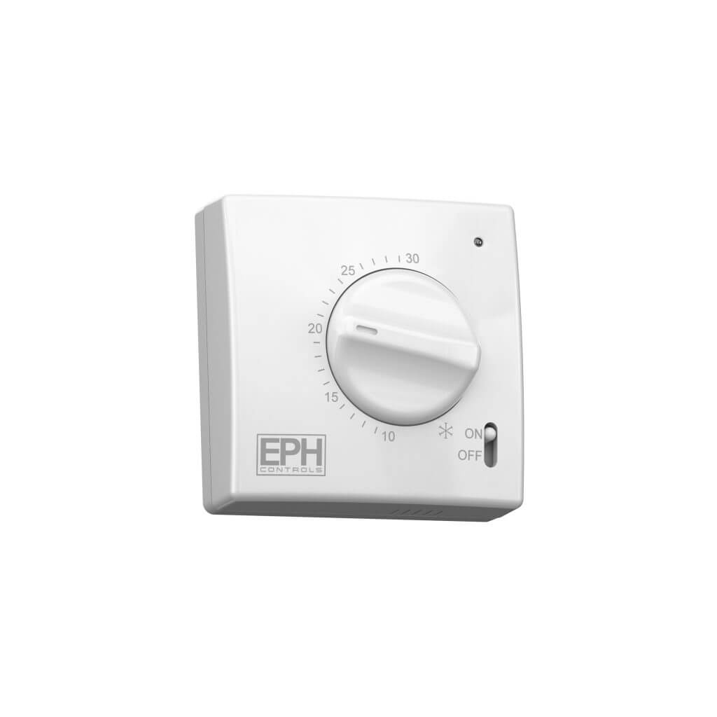EPH Mechanical Room Thermostat, 3 wire - c/w light and on / off switch