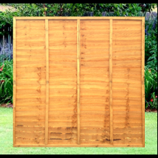 6' x 6' Waney Edge Overlap 5 Bar Fence Panel