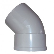 110mm Solvent Weld 135' Single Socket Bend - Olive Grey