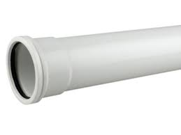 110mm Push Fit 3 metre Single Socket Pipe - White