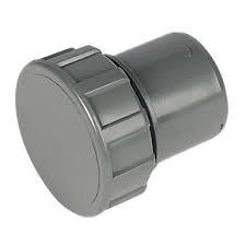 32mm Push Fit Waste Screwed Access Plug - Grey