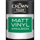 Crown Trade Matt Vinyl Emulsion - White - 2.5l