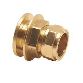 15mm Brass Compression Tank Connector Straight