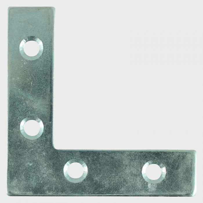 Timco 50x50x13mm Corner Plate (Zinc Plated) - Pack of 4