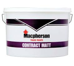 Macphersons Contract Matt Emulsion - Brilliant White - 10L
