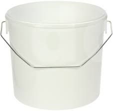 5L Round Paint Kettle - White