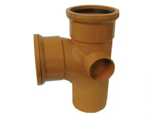 110mm Underground 90' tee Double Socket Junction