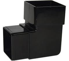 65mm Square Downpipe 90' Downpipe Bend - Black