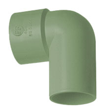 50mm Solvent Weld Waste 90' Spigot Bend - Olive Grey