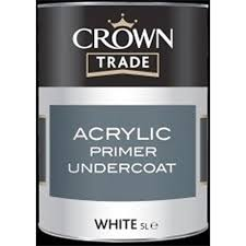 Crown Trade - Acrylic Primer Undercoat - White - 1L